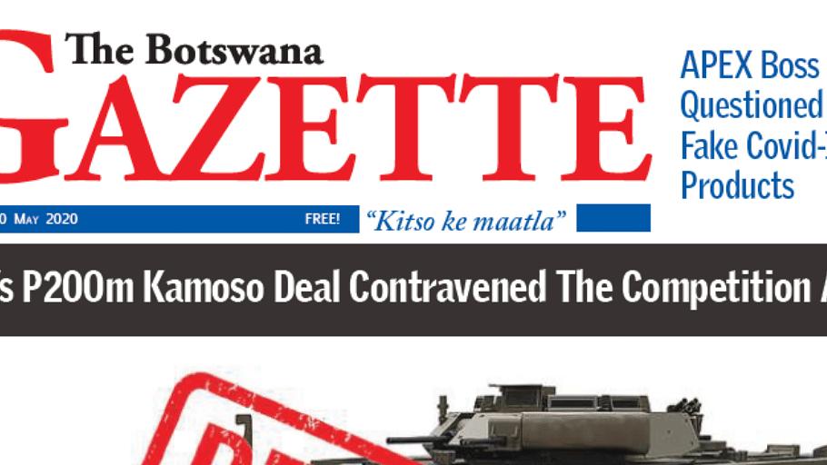 The Botswana Gazette 20 May 2020