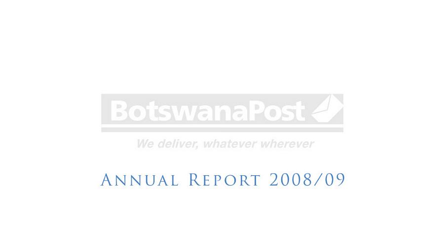 BotswanaPost Annual Report 2009