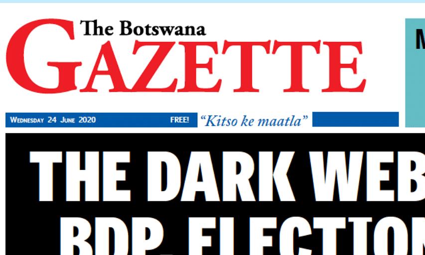 The Botswana Gazette 24 June 2020