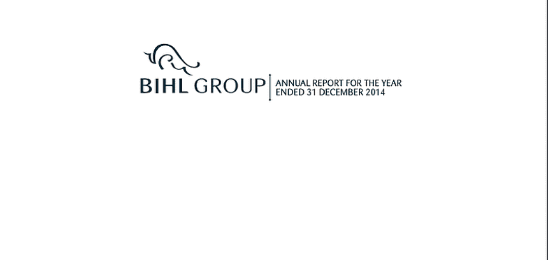 The BIHL Group Annual Report 2014