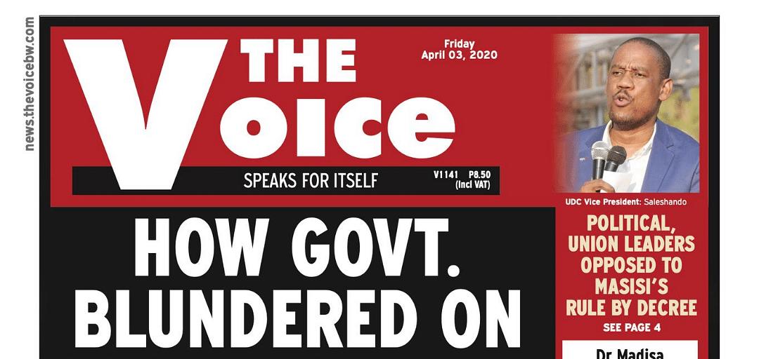The Voice 03 April 2020