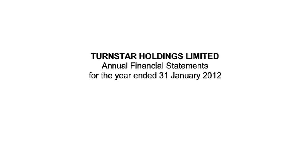 Turnstar Annual Report 2012