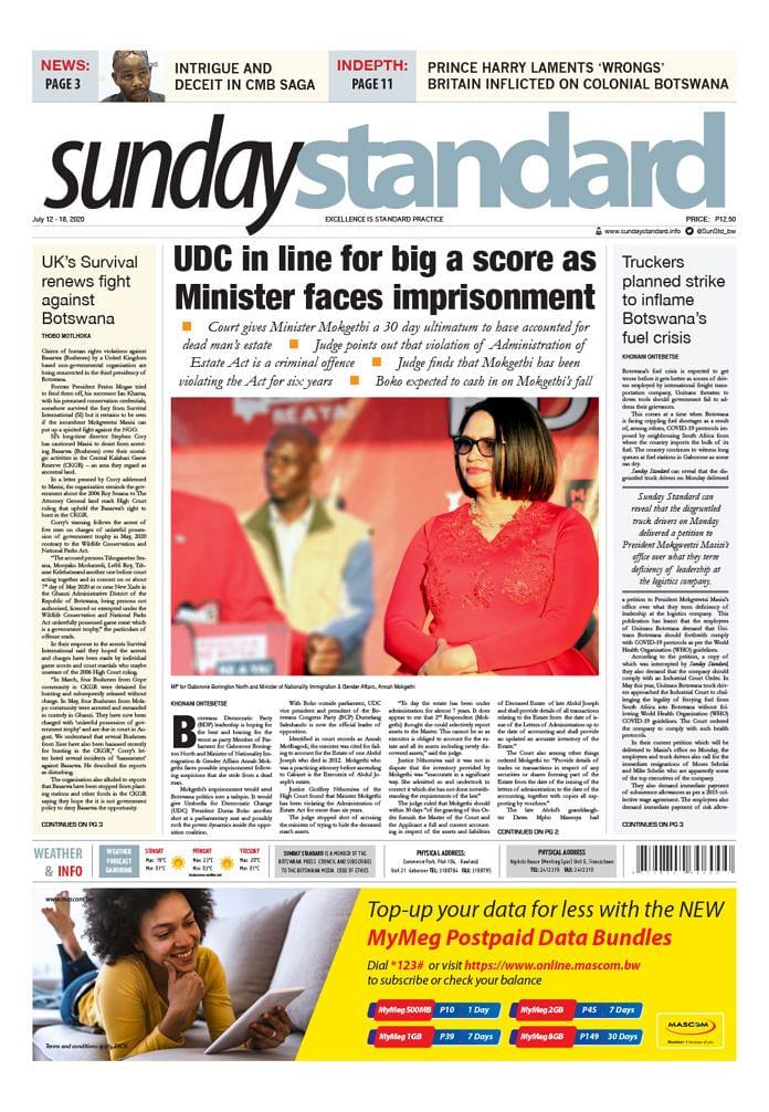 Sunday Standard 12 July 2020
