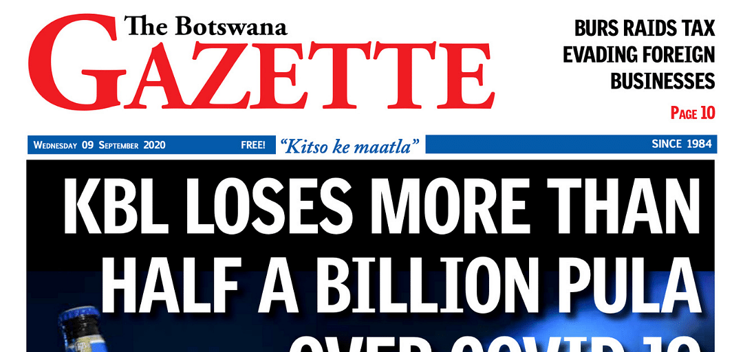 The Botswana Gazette 09 September 2020