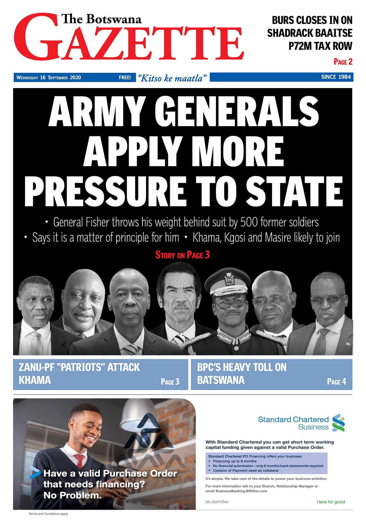 The Botswana Gazette 16 September 2020