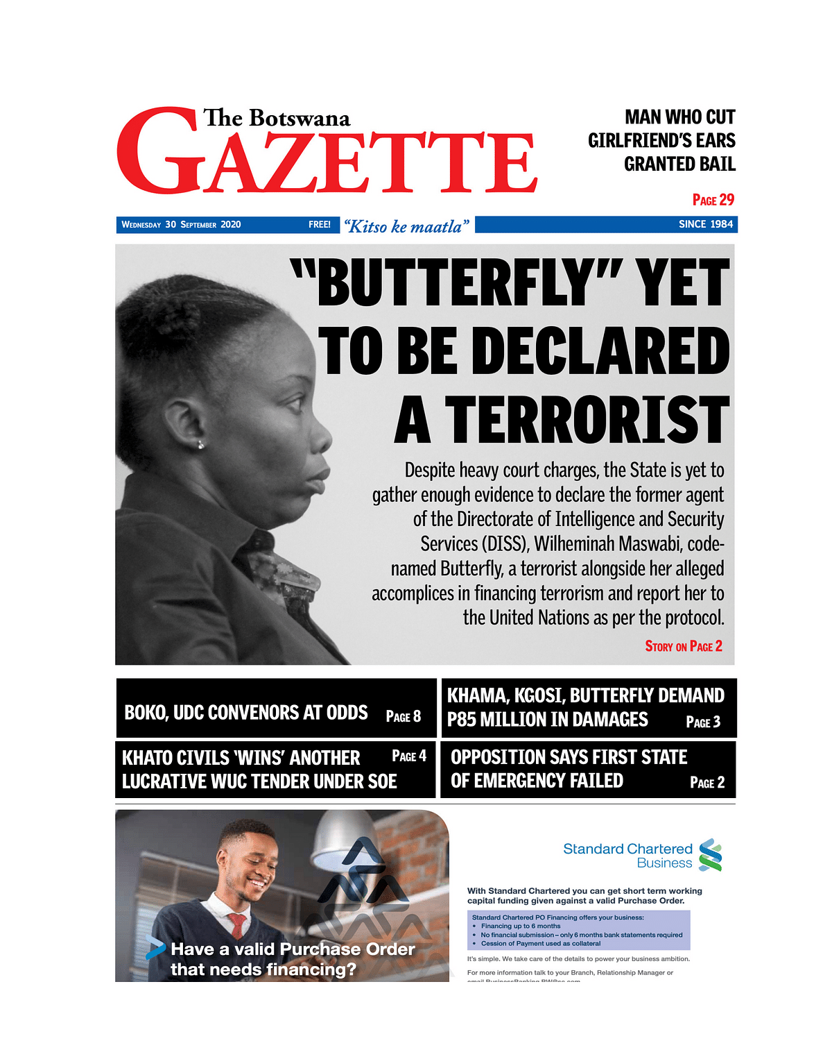 The Botswana Gazette 30 September 2020