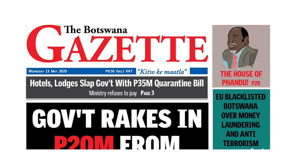 The Botswana Gazette 13 May 2020