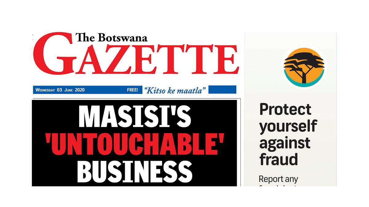 The Botswana Gazette 3 June 2020