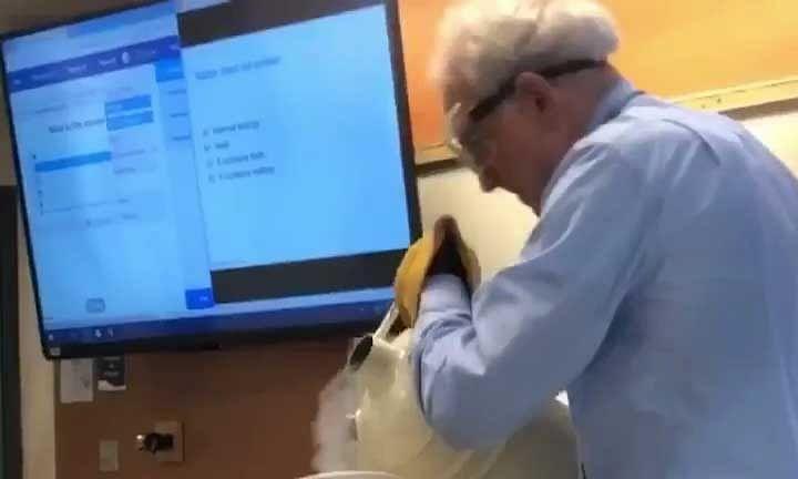 70 years old physics professor