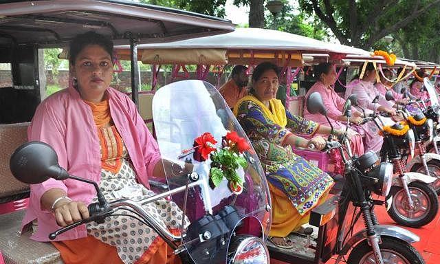 Women E-rikshaw in Indore