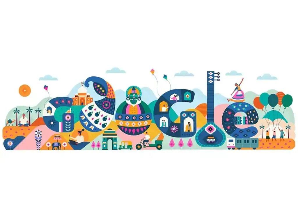 71वें गणतंत्र दिवस  पर क्या दर्शा रहा है google का doodle....