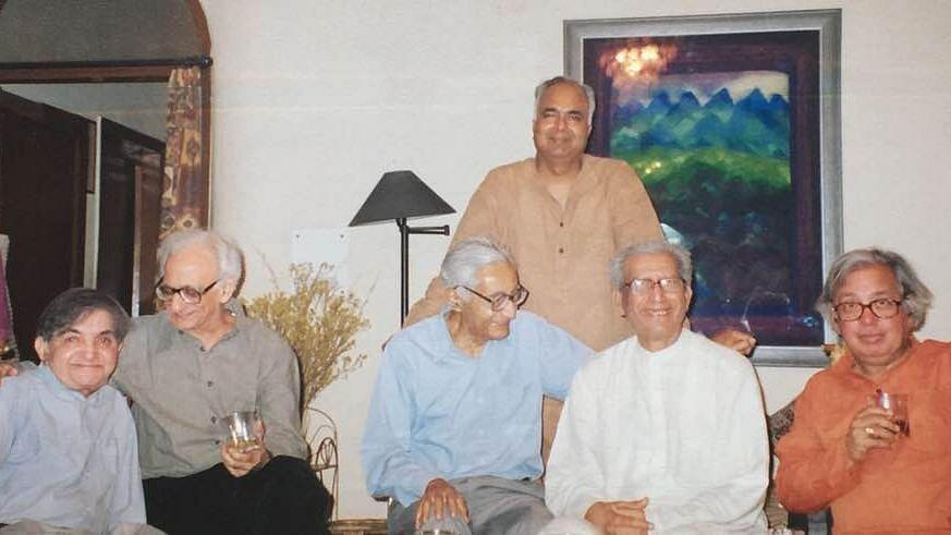 निर्मल वर्मा, कृष्ण बलदेव वैद, रामकुमार, नामवर सिंह, अशोक वाजपेयी और ओम थानवी (तस्वीर ओम थानवी के फेसबुक वाल से