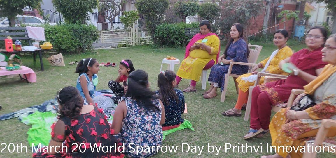 पृथ्वी इनोवेशन के निरंतर प्रयासों के तहत, लखनऊ में विश्व गौरैया दिवस पर कार्यशाला का आयोजन किया गया