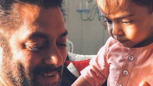 Sakman Khan with his nephew
