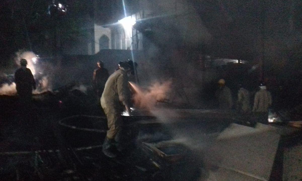 शाहीनबाग : दुकान में आग, कोई हताहत नहीं