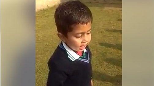 प्रार्थना की धुन में स्कूली बच्चे ने गाया सपना चौधरी का गाना... देखें Video