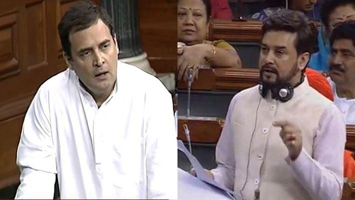 राहुल गांधी ने सरकार से पूछे- 50 टॉप लोन डिफॉल्टर्स के नाम, अनुराग बोले- वेबसाइट देखें