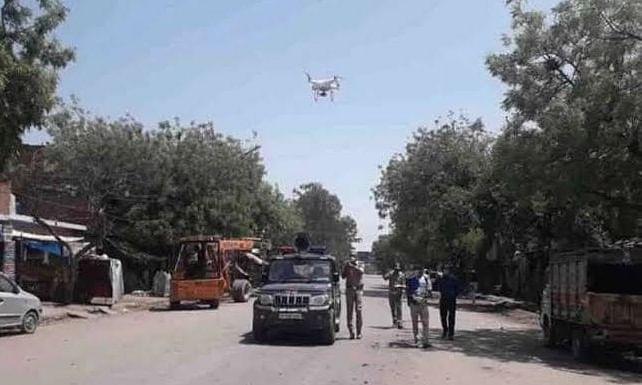 यूपी के हॉटस्पॉट इलाकों की निगरानी ड्रोन से