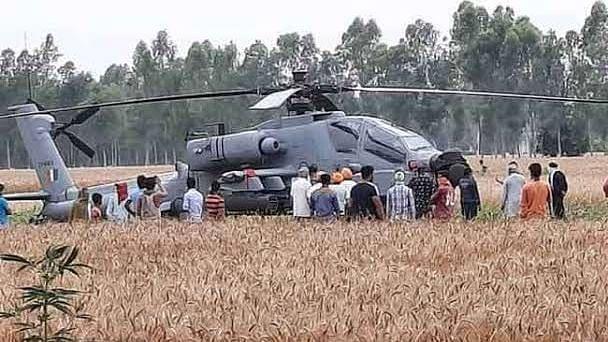 पंजाब में आपात स्थिति में उतरा वायुसेना का अपाचे हेलीकॉप्टर