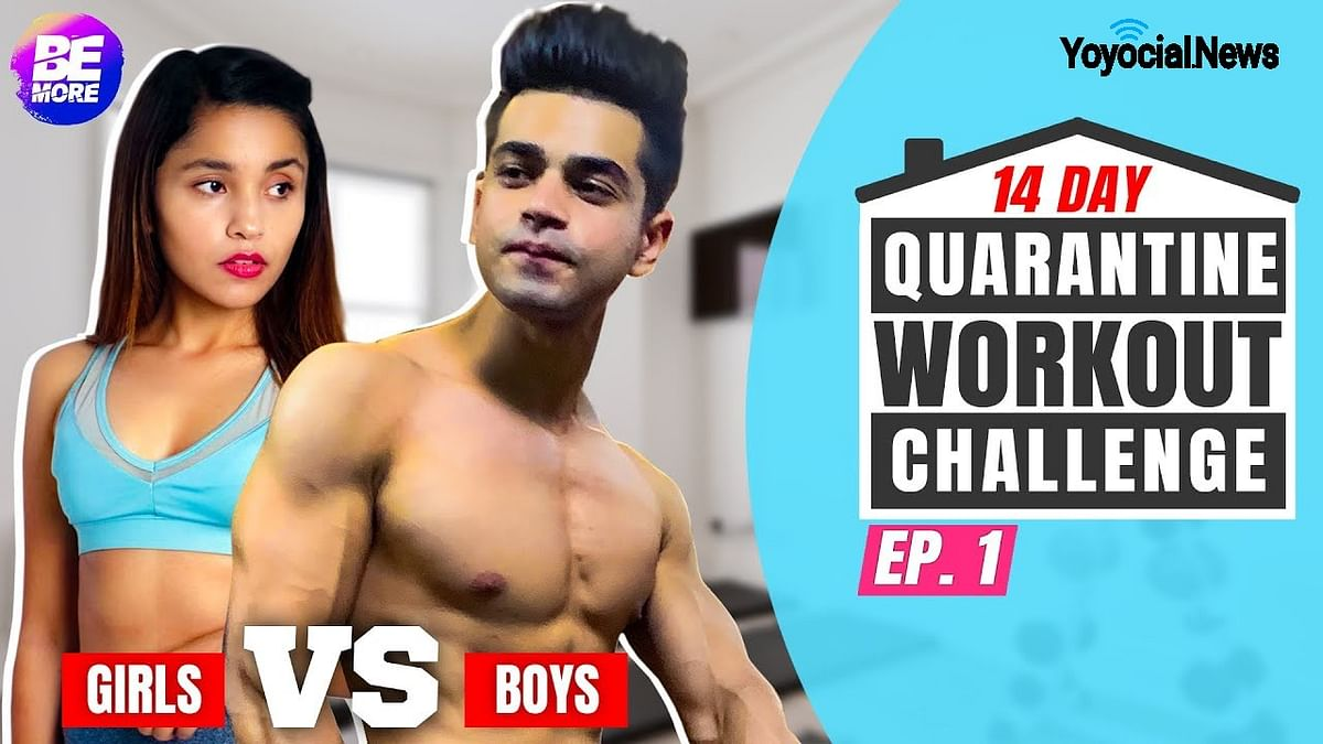 Boys Vs Girls Quarantine Workout Challenge | 14 Day Fitness Challenge | Day 1 - 3