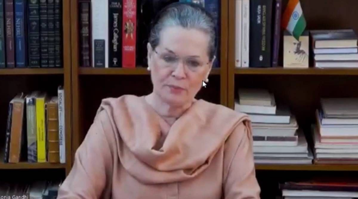 Sonia Gandhi in CWC VC