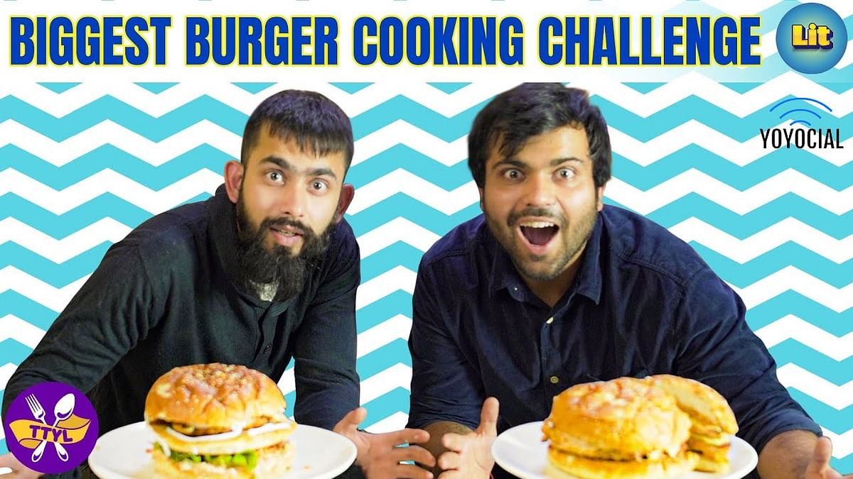 GIANT Burger Cooking Challenge | Spicy Burgers | Delhi Food | TTYL