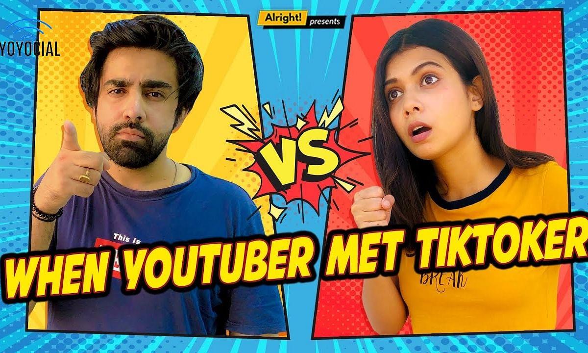 When YouTuber Met TikToker | Ft. Shreya Gupto & @Rishhsome | YouTube vs TikTok