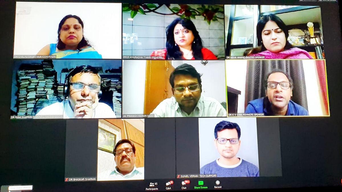 लखनऊ: कॉलेज के टीचर्स और प्रोफेसर्स ने किया कोविड पर ऑनलाइन वेबिनार