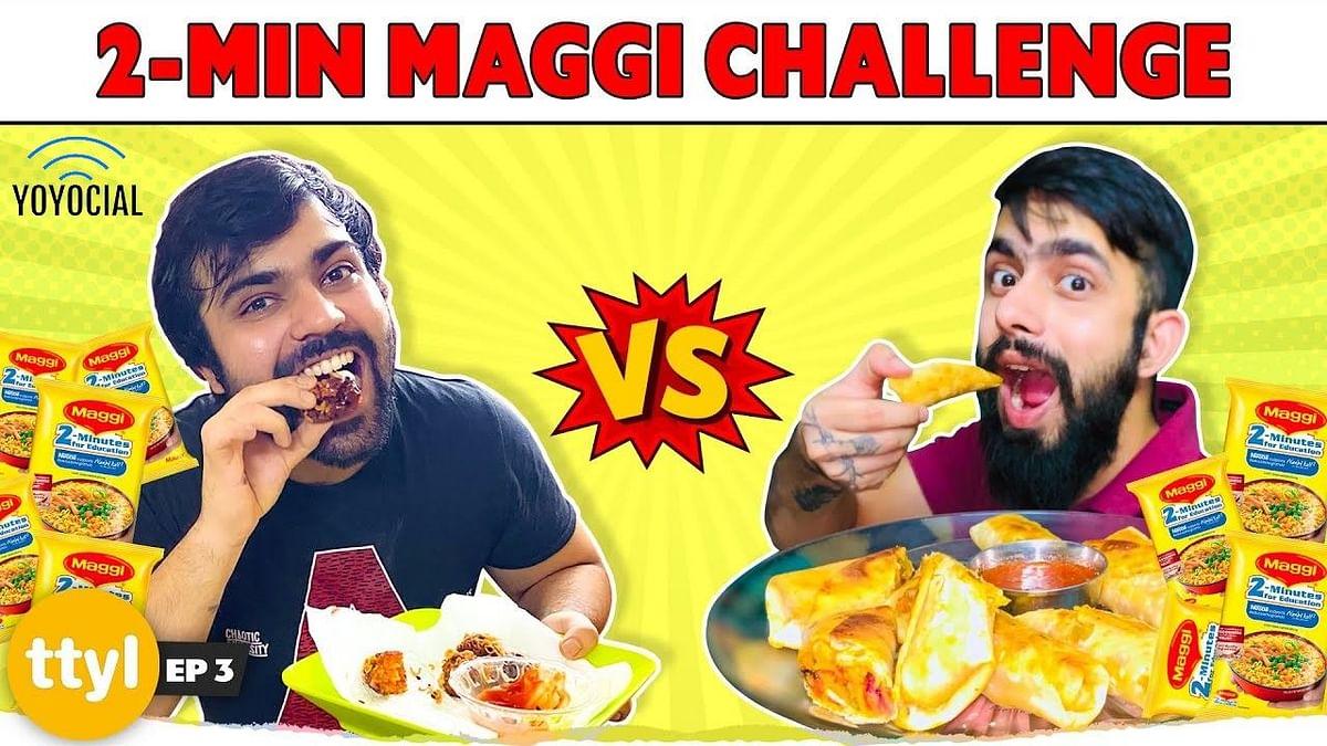 Maggi Pakora Vs Maggi Spring Roll | Homemade Instant Maggi Recipes