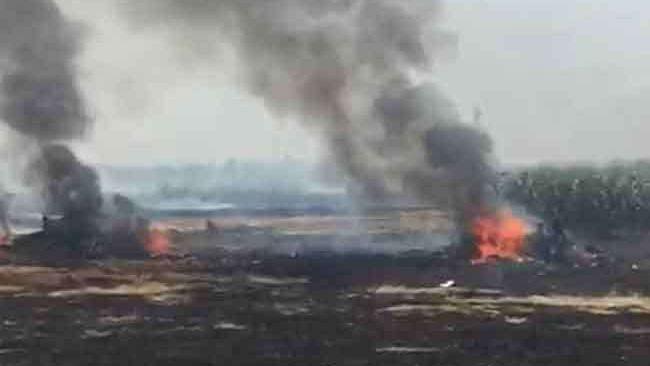 पंजाब के नवांशहर में क्रैश हुआ भारतीय वायुसेना का लड़ाकू विमान मिग-29