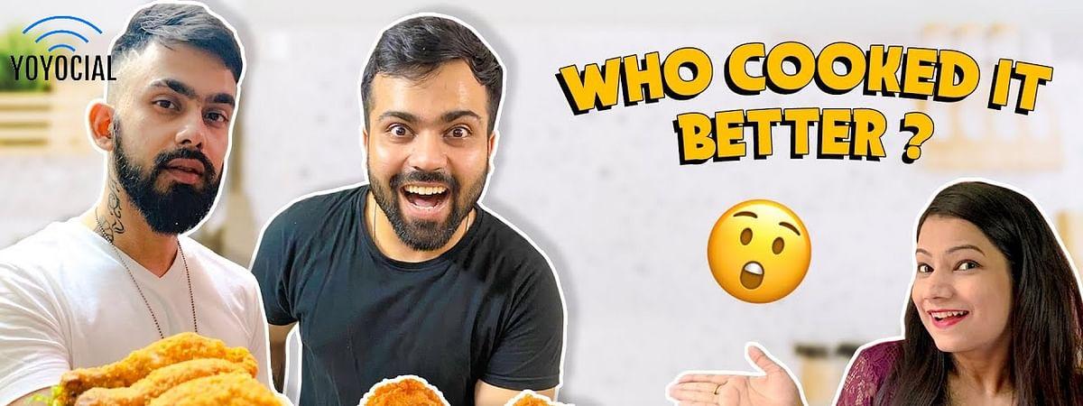 KFC vs Desi Fried Chicken | Homemade Cooking Challenge