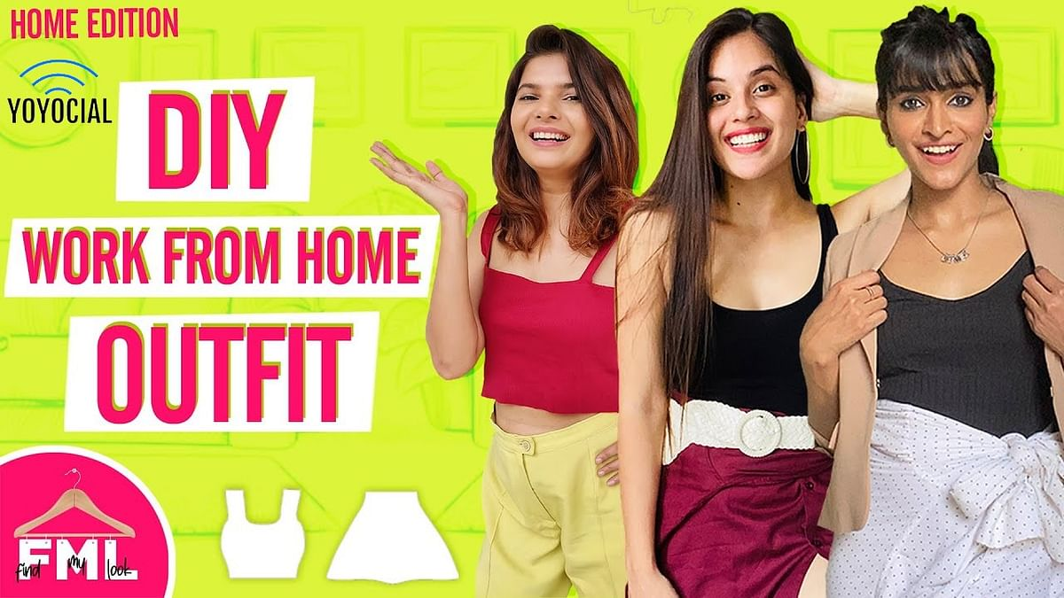 Work From Home Outfit Makeover Challenge ft. @The Moi Blog |Recreating Komal Pandey's Outfits
