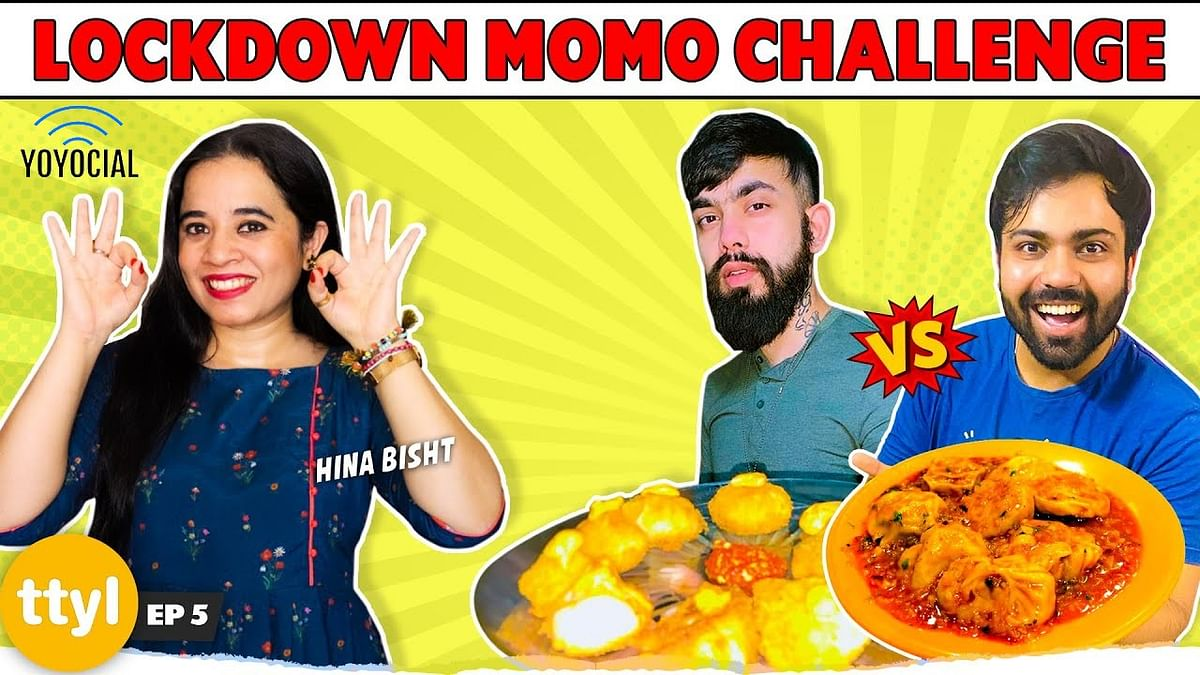 Kurkure Momos Vs Devil Momos | Homemade Momo Making Challenge ft. Hina Bisht