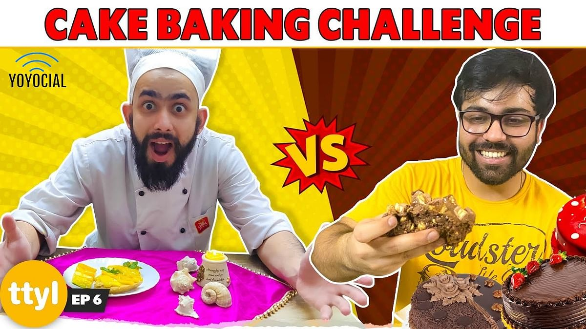 Chocolate Cake Vs Mango Tart | Homemade Cake Baking Challenge