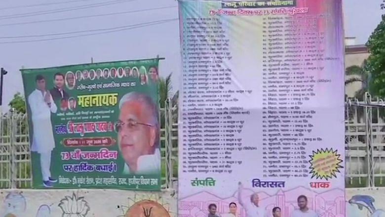 लालू के जन्मदिन पर पटना के चौराहों में लगे 73 संपत्तियों की लिस्ट के पोस्टर, RJD-कांग्रेस भड़के