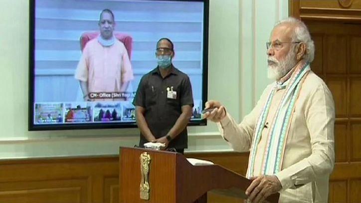 पीएम मोदी ने 'आत्मनिर्भर यूपी रोजगार अभियान' किया लॉन्च, सवा करोड़ मजदूरों को मिलेगा काम