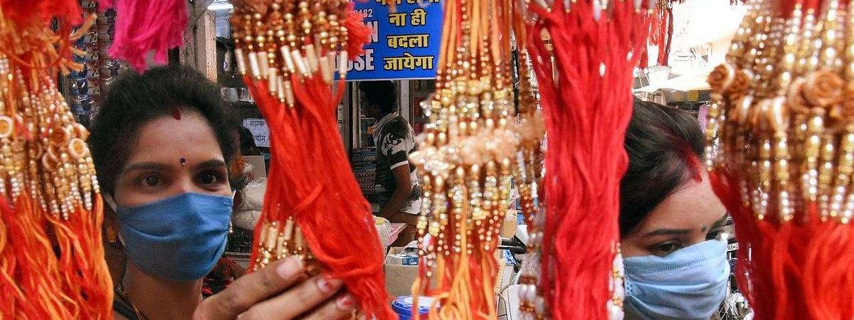 त्योहारी मांग पर कोरोना की मार... राखियों के बाजार में सन्नाटा, ऑनलाइन मांग बढ़ी