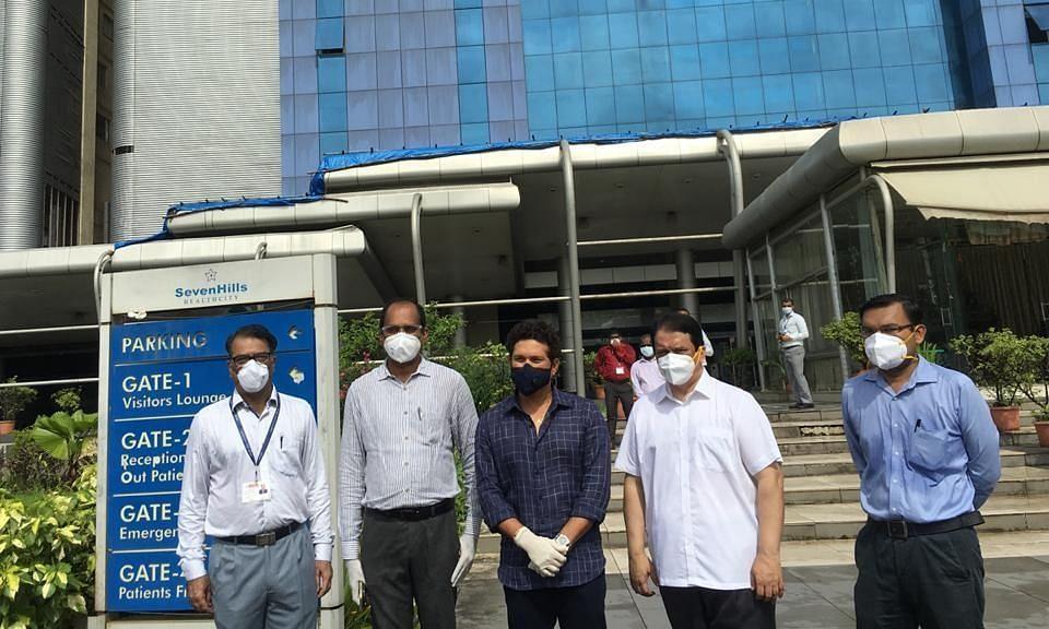 तेंदुलकर ने मुंबई के अस्पताल में किया कोविड-19 प्लाज्मा थेरेपी यूनिट का उद्घाटन
