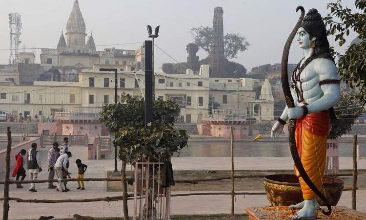 भूमिपूजन समारोह के लिए एक रंग हुई अयोध्या, योगी ने की अपील, 'घर पर लाइव देखें पूजा, दीए जलाएं...रामायण पाठ करें'