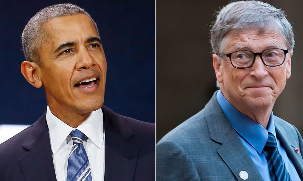 Barak obama and bill gates