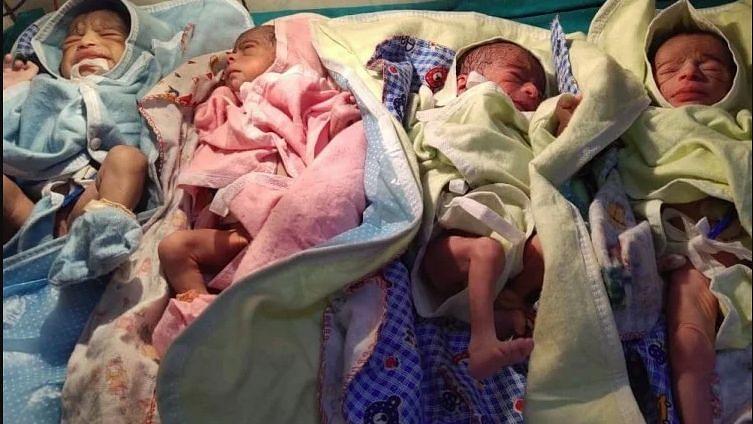 गोंडा: महिला ने एक साथ चार बच्चों को दिया जन्म, सभी स्वस्थ, डॉक्टर बोलीं- चुनौती भरा रहा ऑपरेशन