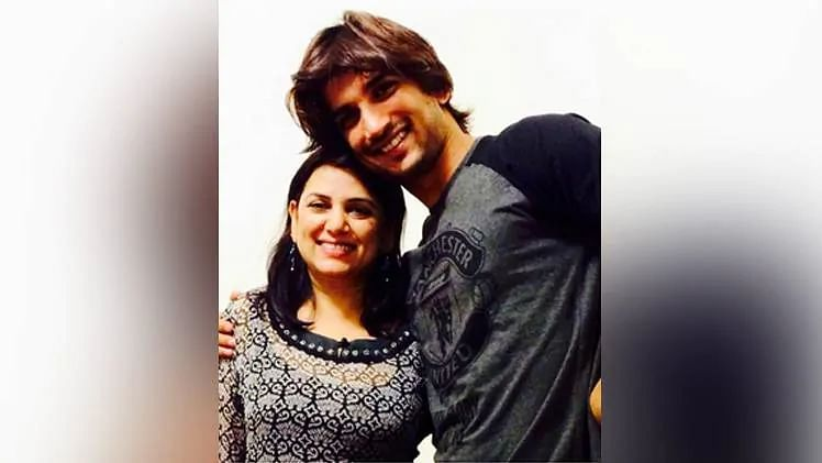 sushant singh with sister rani
