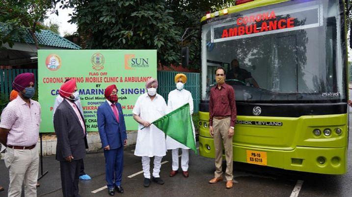 पंजाब के सीएम ने दी कोरोना मोबाइल टेस्टिंग क्लिनिक को हरी झंडी