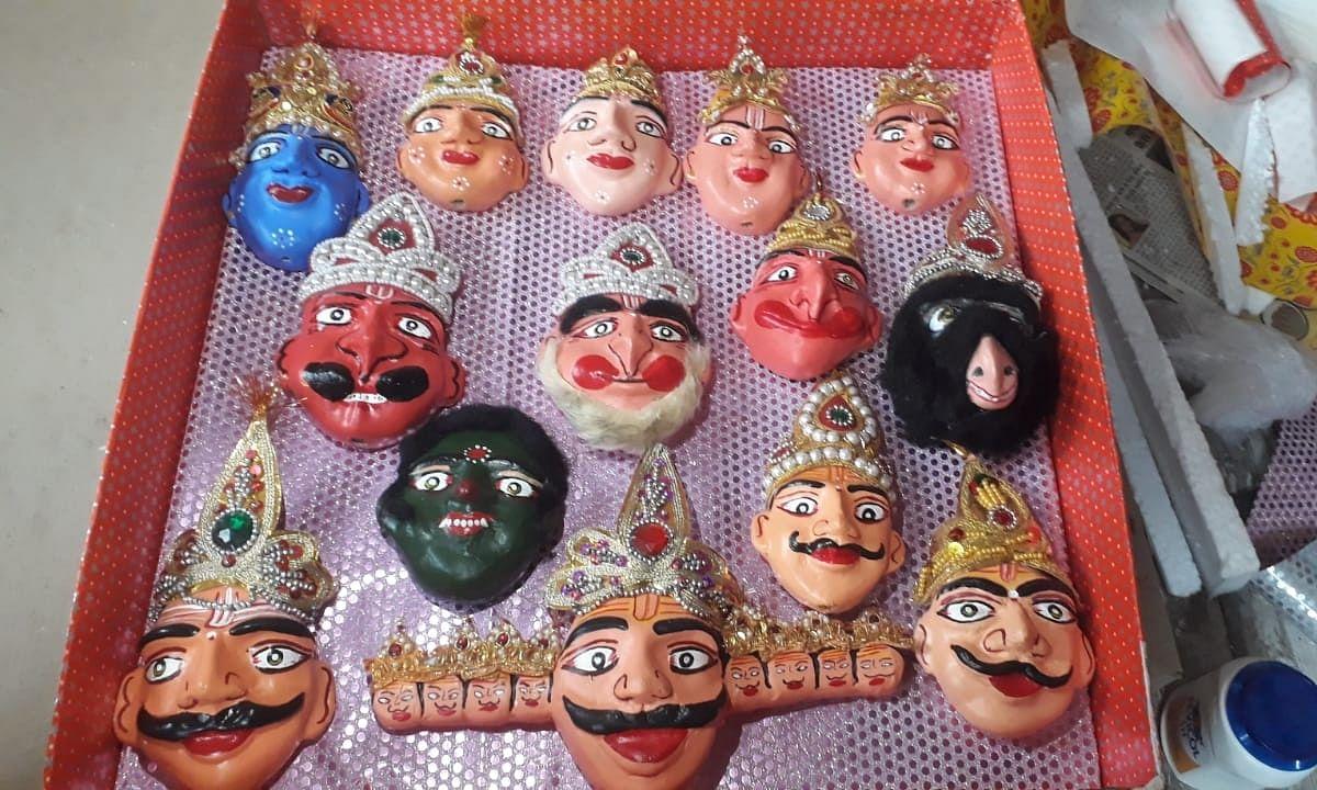 ऑनलाइन होगी काशी की पपेट रामलीला, लुग्दी से बने मुखौटे देश-विदेश में होंगे पेश