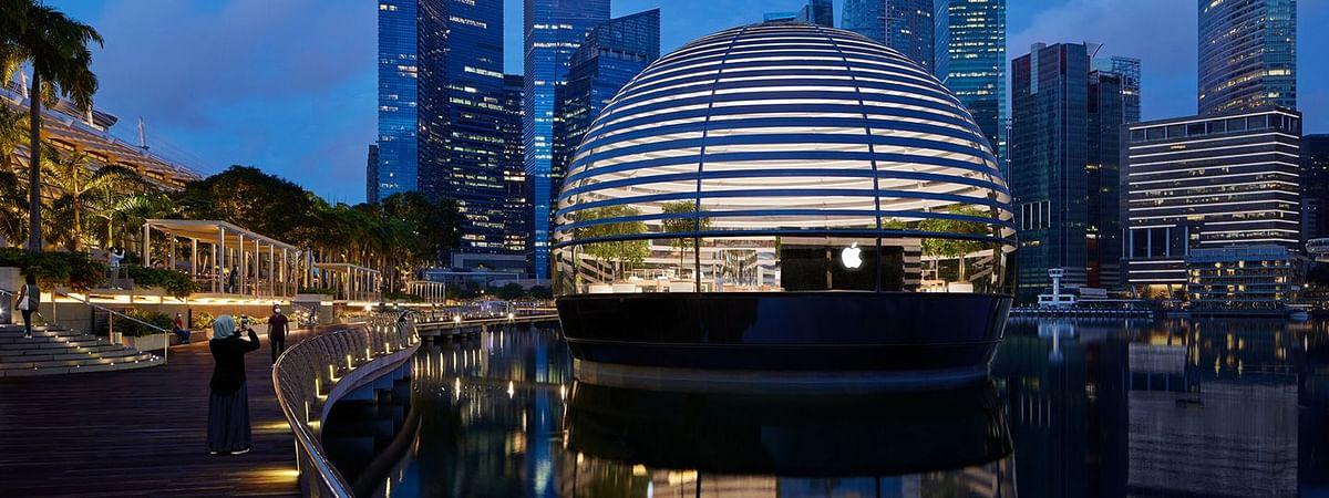 सिंगापुर में 10 सितम्बर को खुलेगा दुनिया का पहला Floating Apple Store