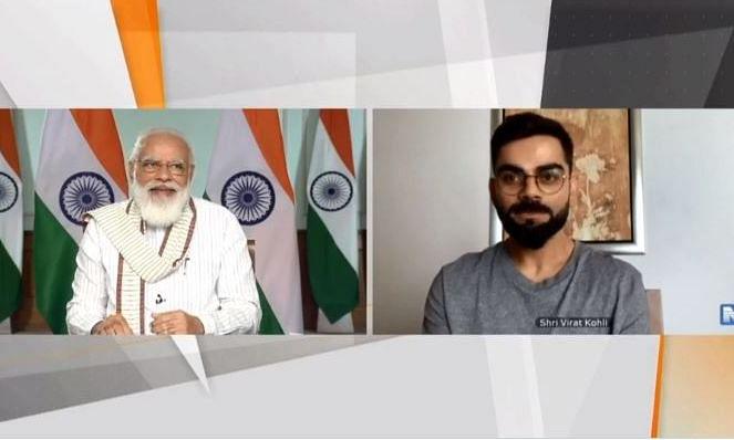फिट इंडिया मूवमेंट की पहली वर्षगांठ पर प्रधानमंत्री ने की कोहली से बात, पूछा आपको थकान नहीं लगती क्या..?