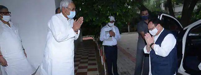 बिहार के मुख्यमंत्री आवास पहुंचे जेपी नड्डा, नीतीश से की लंबी चर्चा