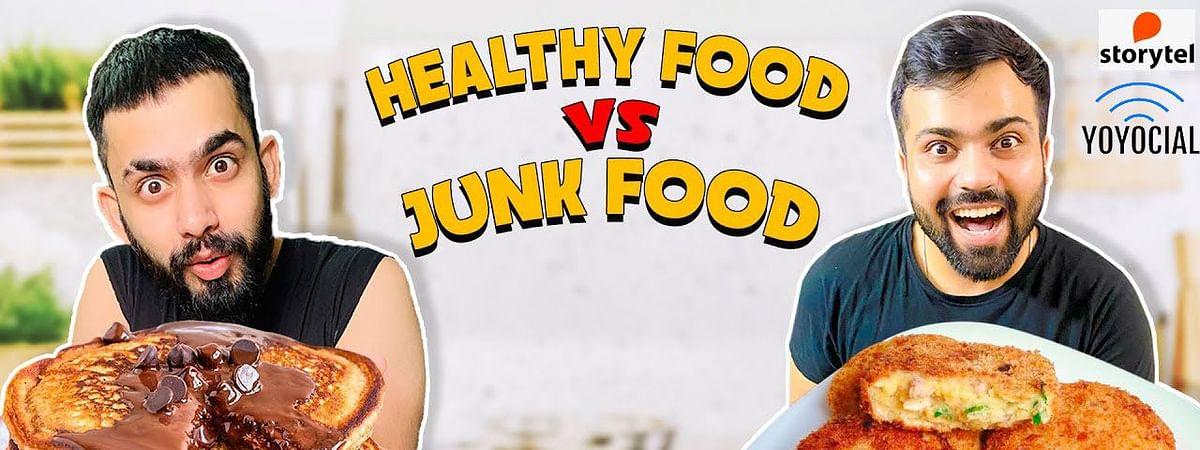 Pancake vs Cutlet Cooking Challenge| Healthy Food vs Junk Food