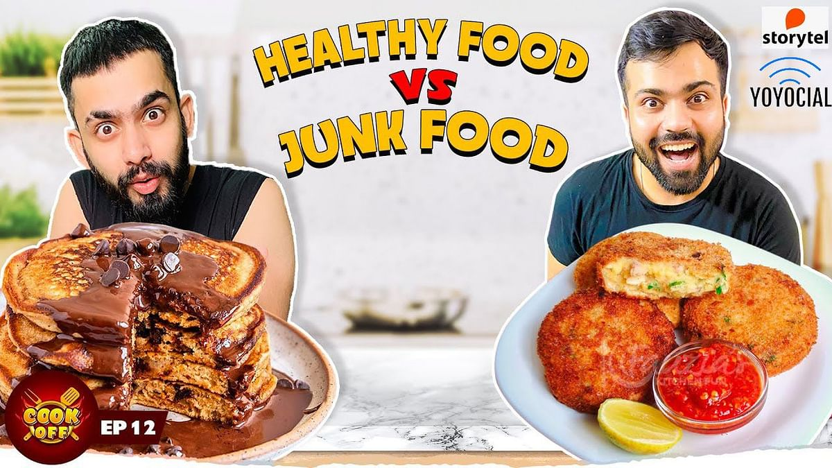 Pancake vs Cutlet Cooking Challenge| Healthy Food vs Junk Food