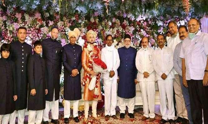 कोरोना काल में ओवैसी ने की बेटी की शादी, शरीक हुए तेलंगाना के मुख्यमंत्री और अन्य कई मंत्री